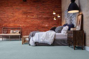Brick wall design of bedroom | Frazee Carpet & Flooring