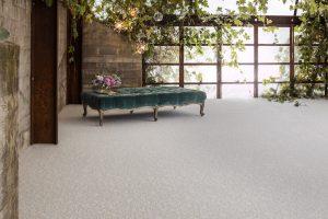 Bench on Carpet floor | Frazee Carpet & Flooring