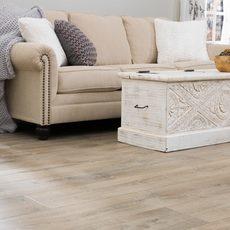 Sofa on floor | Frazee Carpet & Flooring